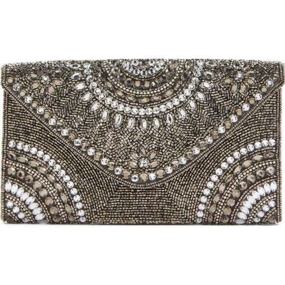 35221312ef Glint Nordstrom Handbags - Brand New Glint Alhambra Beaded Envelope Clutch